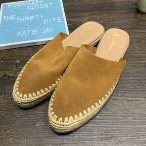 Sam Edelman Shoes - Sam Edelman Suede Leather Espadrille Mules SZ 11